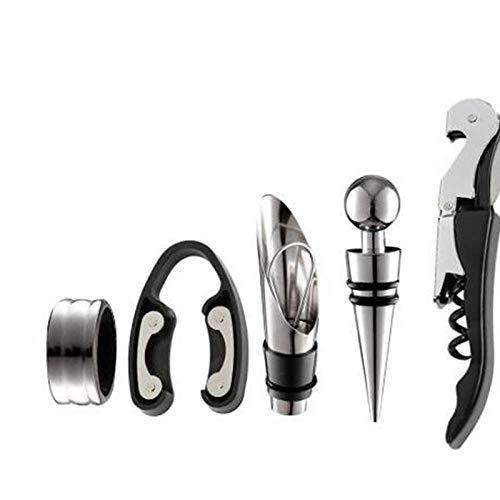 Weinöffner-Kit-Set Mit 5-teiligem Werkzeug Weinöffner-Kit Aus Edelstahl Pourer Weinring Weinflaschenöffner-Cutter