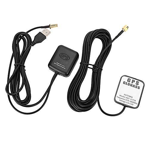 EVGATSAUTO Antena y Receptor GPS de Repuesto, Ant ‑ 1573 Amplificador de señal GPS para automóvil Antena aérea Receptor de navegación automática