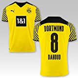 PUMA BVB Heimtrikot Erwachsen Saison 2021/22, Größe:S, Spielername:8 Dahoud