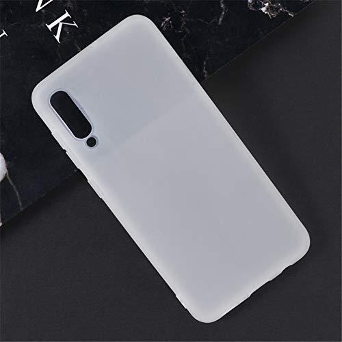 Capa para Samsung Galaxy A50, capa traseira de TPU macia resistente a arranhões à prova de choque de borracha de gel de silicone anti-impressões digitais Capa protetora de corpo inteiro para Samsung Galaxy A30s (branca)