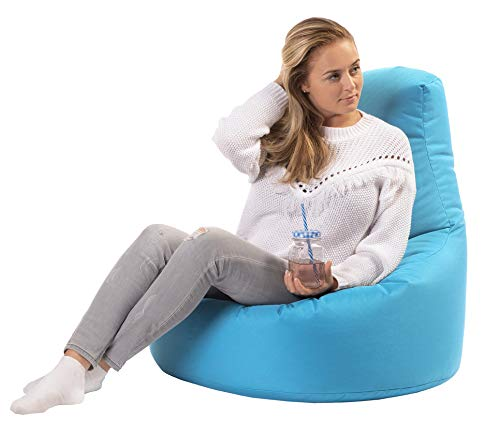 sunnypillow Gaming Sitzsack XXL mit Styropor Füllung Outdoor & Indoor für Kinder & Erwachsene Sitzsäcke Sitzkissen Bodenkissen viele Farben zur Auswahl Blau