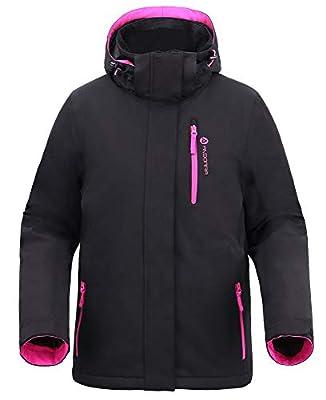 Andorra Winter Jacket Women Insulated Waterproof Mountain Hiking Snow Ski Jacket,Electrifying Ros?,XL from Andorra