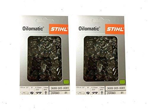 Stihl 3610 000 0050 Lot de 3 cha/înes de tron/çonneuse Picco Micro 3//8P-1,1-50 pour Stihl 023L 35 cm