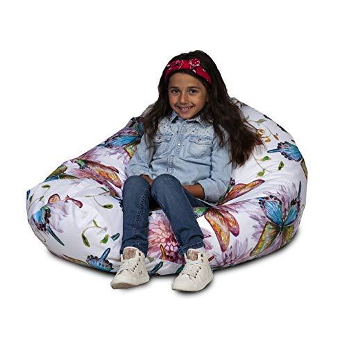 Ecopuf Modern Sitzsack L aus Polyester mit Abnehmbaren Bezug - Outdoor und Indoor Bean-Bag, 70x110cm