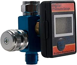 LE LEMATEC Digital Air Pressure Regulator and Gauge for Air Compressors, Spray Guns, and Pneumatic Tools. Includes NPT Connection