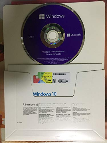Windows 10 Professional Windows 10 Professionnel 64 Bits - OEM DVD - Système d'exploitation 64bits - Licence Français