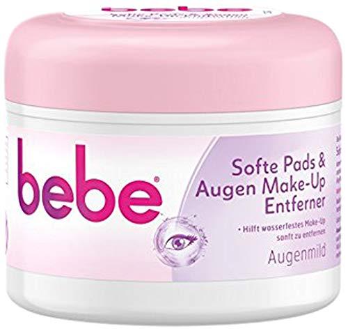 bebe Softe Pads & Augen Make-Up Entferner - Sanfte Abschminkpads für Augen- Augenmild ohne Alkohol - 1 x 30 Stück