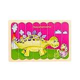"GJCDP Dinosaur Puzzle Children Educational Jigsaw Puzzles Wooden Puzzles,Huayangosaurus/Tanystropheus/Diplodocus/Kentrosaurus,Best Gift for Kids,Size 5.79""x8.82"" (Huayangosaurus)"