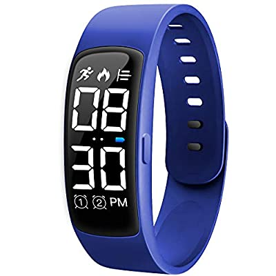 Niceline Kids Fitness Tracker Watch, Activity Tracker Pedometer Watch with Alarm Calorie Step Counter Sport Bracelet Gift for Girls Boys Teens (Blue)