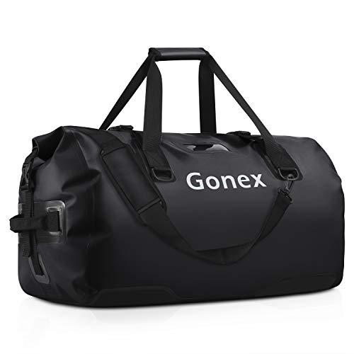 Gonex 80L wasserdichte Reisetasche Rucksack Sporttasche für Camping Wandern Outdoor Abenteuer,Schwarz