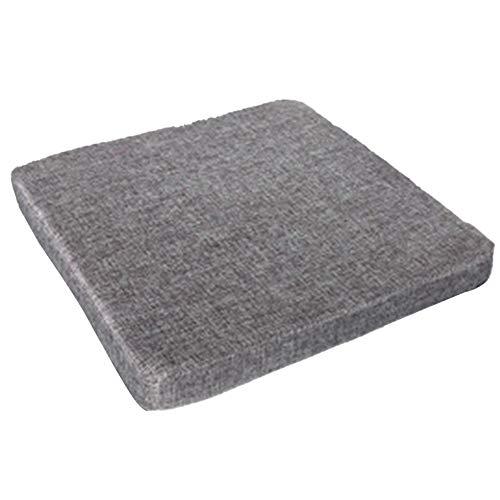 Haucy Sitzpolster Dekubitus Sitzkissen für Büro, Memory Schaum Sitzkissen für Auto, Quadratisches Stuhlkissen, 40x40cm (Grau)