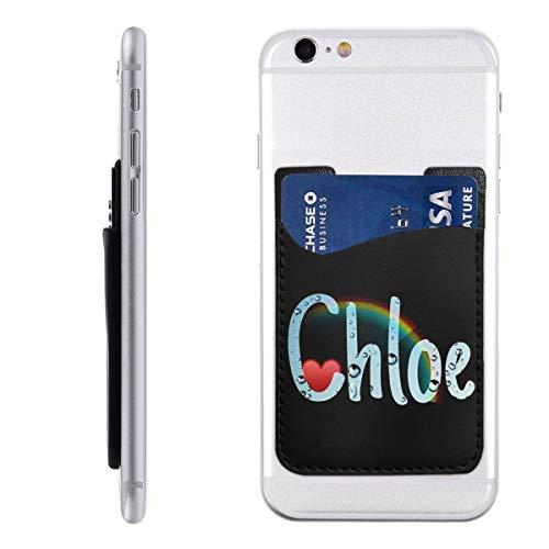 Chloe telefoonkaarthouder Stick op mobiele telefoon portemonnee voor creditcard, visitekaart-ID en sleutels, telefoonvak voor alle telefoons