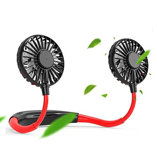 FSGD Ventilatore Sportivo Ventilatore da Collo Appeso USB Mini-Ventilatore Portabile Pieghevole 3 velocità per Palestra, Viaggio, Ufficio(2 pacchi)