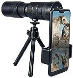 Qianglin Telescopios monoculares, 4k 10-300x40mm Telescopio monocular con Zoom superteleobjetivo, para Viajes, observación de Aves, conciertos, Partidos de fútbol con trípode
