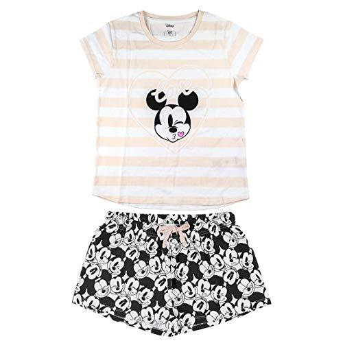 CERDÁ LIFE'S LITTLE MOMENTS Mujer Pijama Corto Minnie de Color Rosa-Licencia Oficial Disney, XL, Estándar-Ajuste Adecuado a la Talla indicada