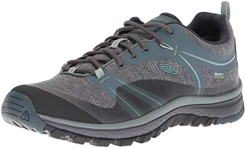 KEEN Women's Terradora Waterproof Hiking Shoe, Stormy Weather/Wrought Iron, 7 M...