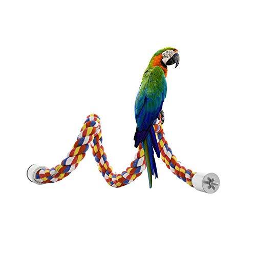 Snow Island Vogelkäfig mit Seil für Papageien, Nymphensittiche, Sittiche, Sittiche, mit Sitzstange, 40 cm / 60 cm / 80 cm