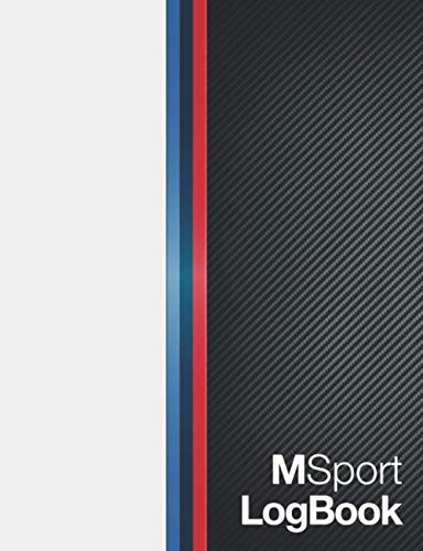 M Sport Log Book: Car and Vehicle Log Book with entries for Maintenance Schedule, Fuel Mileage, Travel records, Monthly Summaries