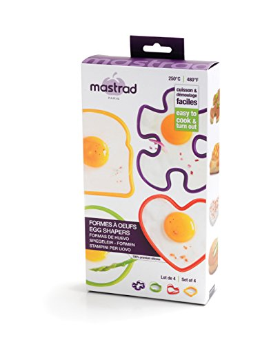 mastrad F65839 Lot de 4 Formes à Œufs en Silicone
