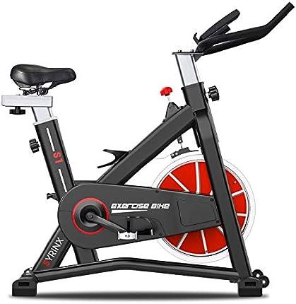 SYRINX Bicicleta de Ejercicio de Interior Ciclismo Bicicleta Estacionaria Bicicletas para el Hogar Gimnasio Máquina de Fitness Correa Ejercicios Bicicleta Cardio Entrenamiento Pesado Volante Digital Monitor