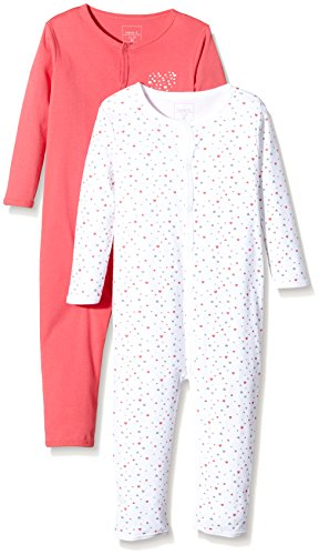NAME IT Baby-Mädchen NITNIGHTSUIT M G NOOS Schlafstrampler, Mehrfarbig (Rouge Red), 92 (2er Pack)