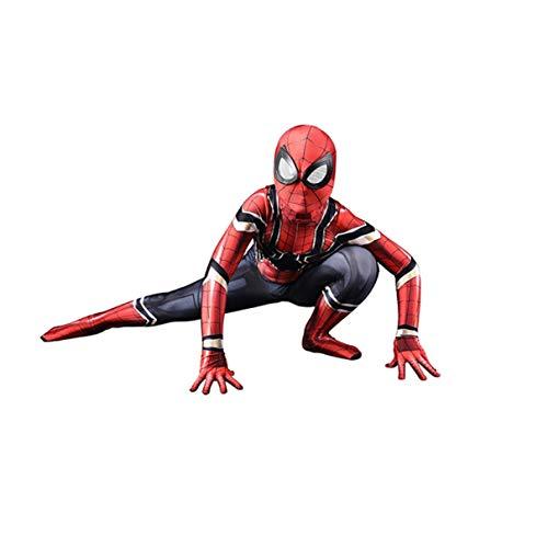 LGYCB Los Aficionados Spider Man Juego De Roles Trajes Vengadores Superhero Cosplay Traje del Hombre Araña De Hierro Película De Anime Bodysuit De La Mascarada del Mono,Iron Man-Kids/M(120~130CM)