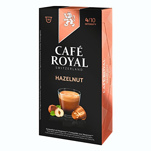 Café Royal Hazelnut Flavoured Edition, 100 Nespresso kompatible Kapseln, 10er Pack (10 x 10 Kaffeekapseln)