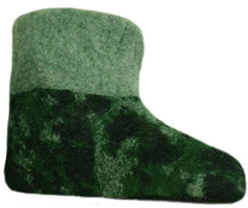 SamWo, Scaldapiedi Pantofole in 100% lana di pecora mimetico verde, militare, Caccia, taglie: 41–48, Verde (Moro), 46
