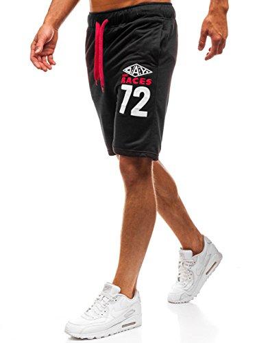BOLF Pantaloncini Corti – Leggeri – Stampe - Stile Sportivo – da Uomo Extreme EX05 Neri L [7G7]