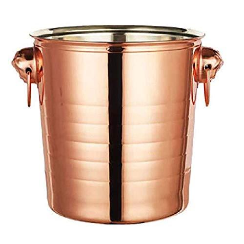 Champagne de doble hielo Champagne Champagne Champagne, cubo de hielo de acero inoxidable - Adecuado para bodas, entretenimiento de vacaciones, suministros de patio de verano (7L) GAONAN