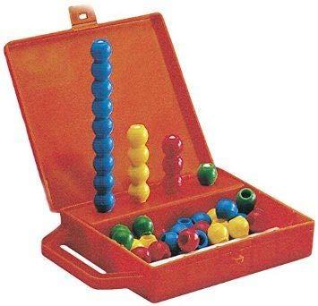 Abaco-vriend in koffer met 16 stangen en 36 ballen in verschillende kleuren zeer goede kwaliteit