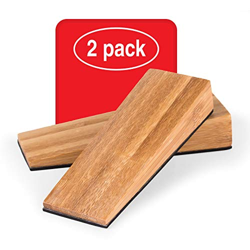 LouMaxx Bambus Türkeil Türstopper Boden 2er Set, Holz - Türstopper Keil aus naturbelassenem Bambus – Türstopper Holz – Türkeil Holz – Keile Holz – Türstopper Bambus – Holzkeil