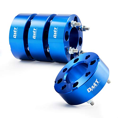 Orion Motor Tech 4x110 ATV Wheel Spacers, 2 inch Blue Wheel Adapters with Studs for Honda Rancher Yamaha Rhino Kawasaki Suzuki More, 50mm Quad Four Wheeler Spacer Kit and Accessories, Set of 4
