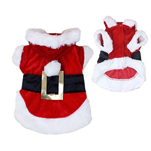 Idepet New Santa Dog Costume Christmas Pet Clothes Winter Hoodie Coat Clothes for Dog Pet Clothing Chihuahua Yorkshire Poodle
