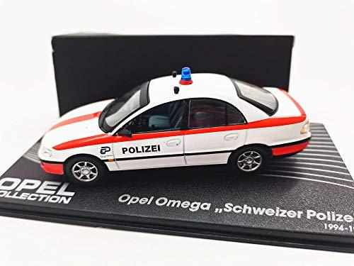 THKZH 1/43 Coche De Policía Francés Opel Opel Omega Polizi Modelo De Coche De Aleacióncoches De Coleccion,Maqueta Coche,Die Casting Car,Fundición A Presión Estática,Coches A Escala,
