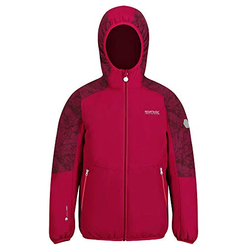 Regatta Kinder Volcanics IV Waterproof Breathable Highly Reflective Taped Seams Insulated Hooded Jacket Jacke, rot, 3-4