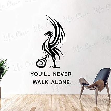 Liver Bird Vinilo Liverpool FC F/útbol Deportes F/útbol Club Equipo Logo Cotizaciones Etiqueta de la pared Vinilo Calcoman/ía Ni/ño Dormitorio Sala de estar Club Decoraci/ón para el hogar Mural