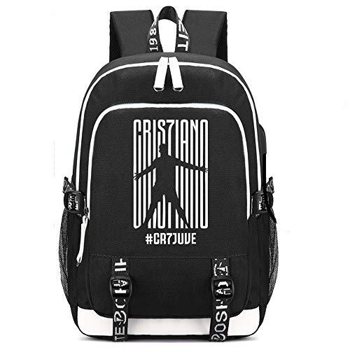 SJYMKYC CR7 Rucksack Ronaldo CR7 Rucksack USB Rucksack Männer Und Frauen Rucksack Reisetasche Computertasche