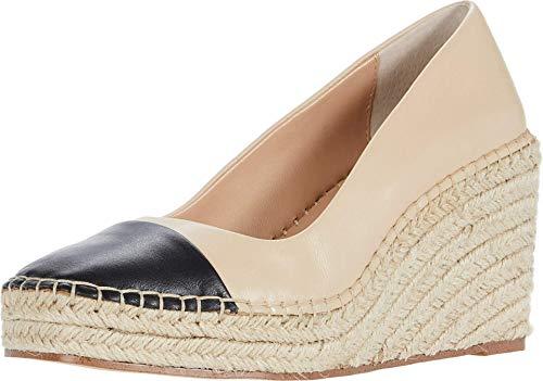 CHARLES DAVID Womens Glider Leather Square Toe Wedge Heels Tan 8 Medium (B,M)