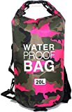 CoolStory 2019 Waterproof Swimming Bag Dry Sack Colors Fishing Boating Kayaking Storage Drifting Rafting Bag,Pink,30 L.E