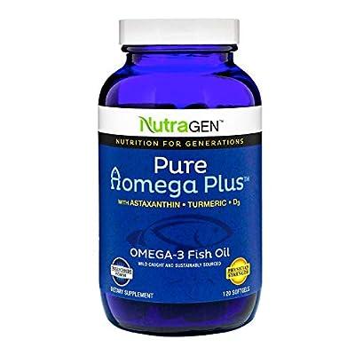 Nutragen - Pure A Omega Plus, Omega 3, Fish Oil (120 Softgel Capsules)