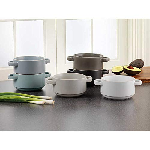 Mikasa Ella Set of 6 Stackable Soup Bowls (Ella)