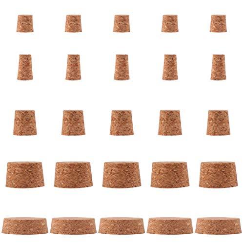EXCEART 25 Stück Korkstopfen Holz Weinflasche Korkstopfen Ersatzkorken für Weinbierflasche