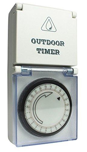 as - Schwabe timer voor buiten mechanisch – betrouwbaar en comfortabel in huis en tuin – analoog outdoor tijdstopcontact – IP44 I 24031