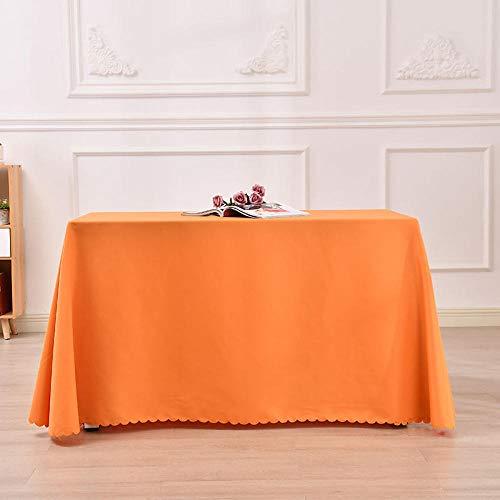 Yinaa Tisch Decke aus Premium Rechteckige Einfache Volltonfarbe für Gastronomie Feste Party Hochzeiten Orange 160 ×...
