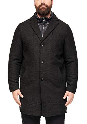 s.Oliver Big Size Herren 28.911.52.3291 Mantel, Schwarz (Black Check 99n1), XXX-Large (Herstellergröße: 3XL)