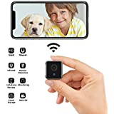 Binow Mini WiFi Camera Small Home Security Wireless Camera, Nanny Cam, Super Night Vision, Motion Detection, Crisp 1080P HD, Live Streaming, Indoor & Outdoor Portable Tiny Cam with Android iOS App