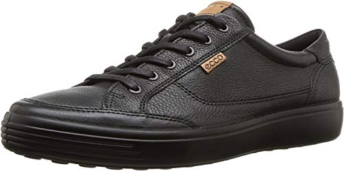 ECCO Men's Soft 7 Long Lace Sneaker, Black, 45 M EU (11-11.5 US)