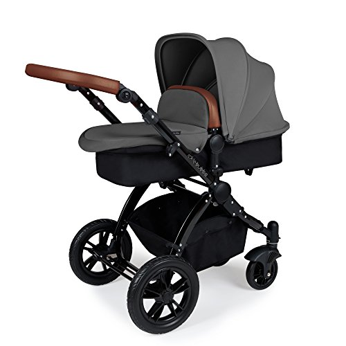 Ickle Bubba Stomp V3 All in One Travel System with Isofix Base | Bundle Includes Carrycot,...