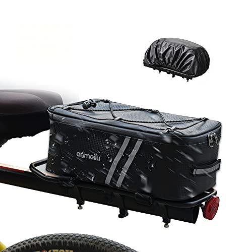 Bolsa Trasera para Bicicleta,Multifuncional Bolsa Alforja Trasera para Bicicleta Impermeable para Bicicleta Tronco Pack Bolsa de Transporte,para Bicicleta Bicicleta de Carretera,8L